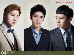 [DOWNLOAD] JYJ April 2012 Lotte CalendarWallpaper