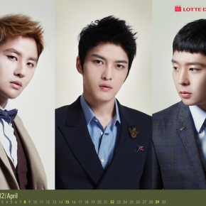 [DOWNLOAD] JYJ April 2012 Lotte Calendar Wallpaper